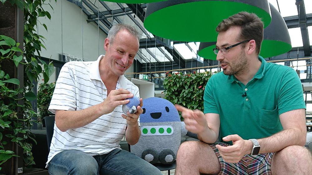 Abbildung - Wolf-Dieter Fiege im Interview mit Konstatin Obenland von Automattic über die Zukunft von WordPress