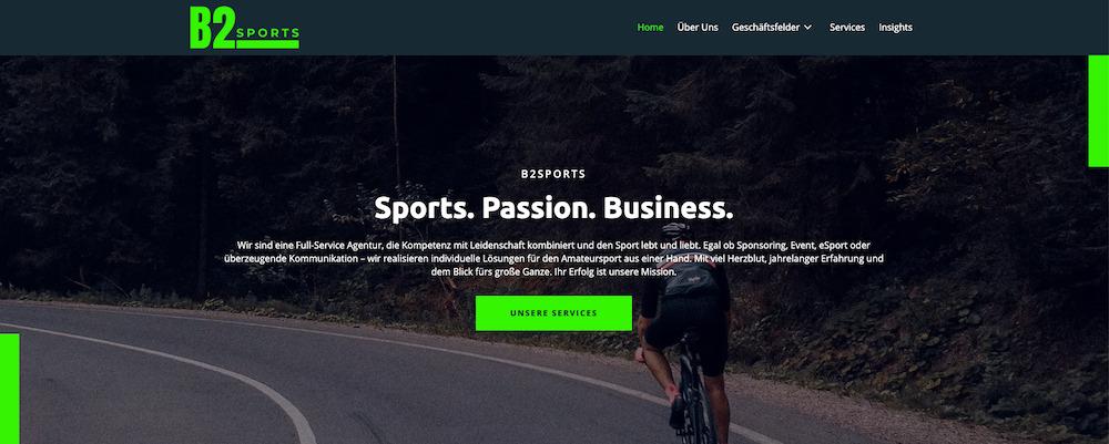B2SPORTS führt jetzt auch ihre neue Website zum Sieg_Website