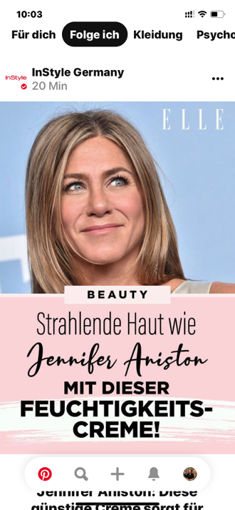 Der Folge-Feed von Pinterest- Hole dir noch mehr Inspirationen für deinePinnwand!_Jennifer Aniston