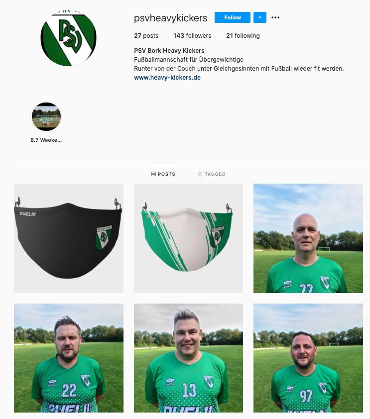 Die Heavy Kickers stellen auch eine schlagkräftige Website auf die Beine_Instagram