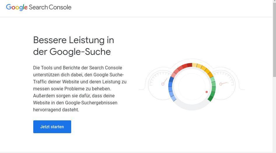 Die wichtigsten Tipps für die Arbeit mit der Google Search Console_startseite-google-search-console