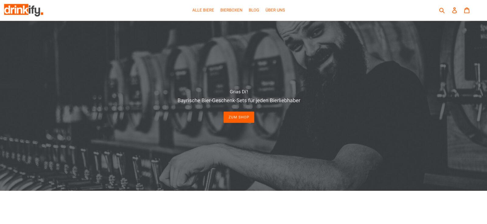 Drinkify Exklusives Bier trifft auf exklusives Webhosting_Website Aufba