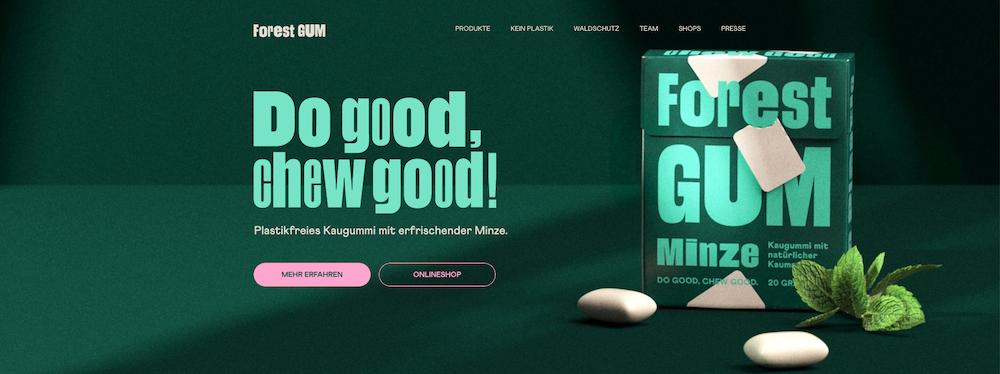 Forest Gum_Geld verdienen und Gutes tun_Website