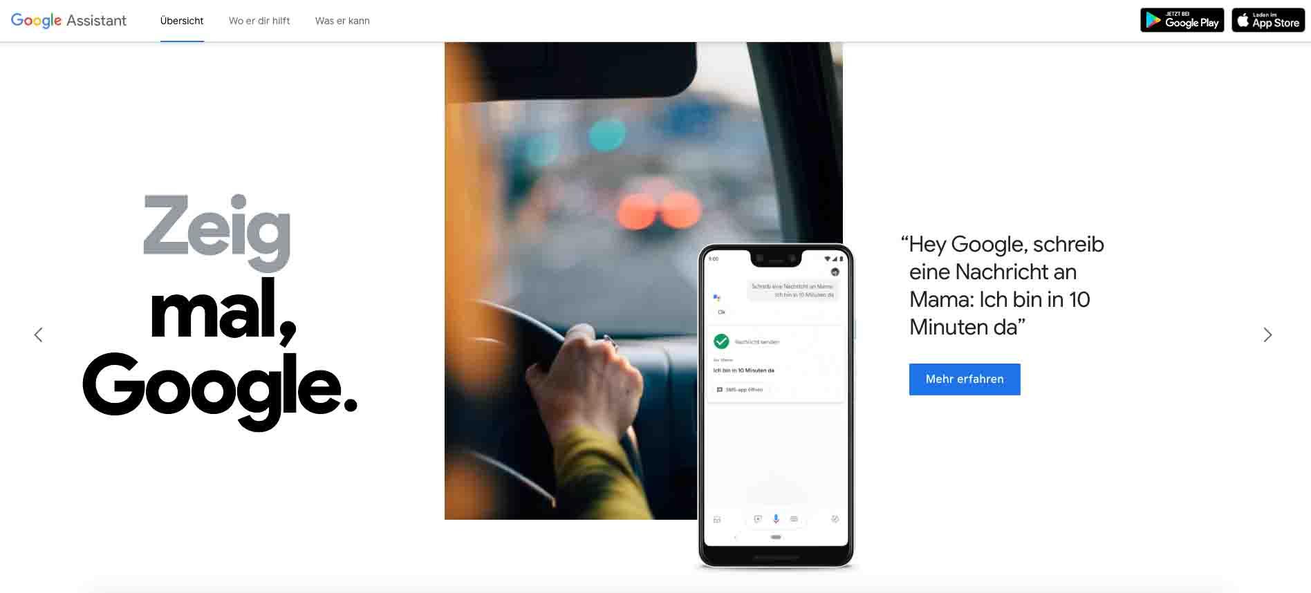 Google Produkte Assistent
