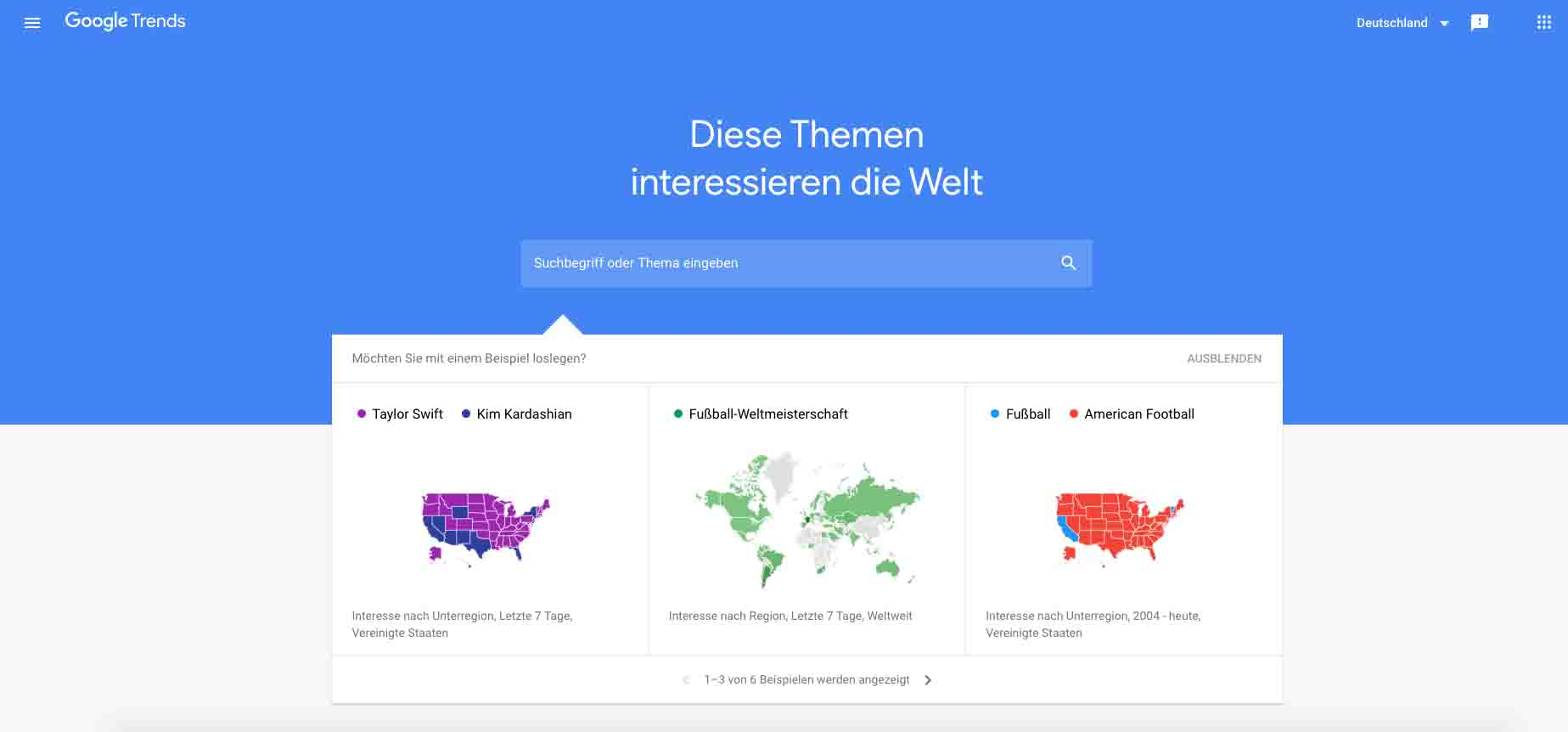 Google Produkte Google Trends