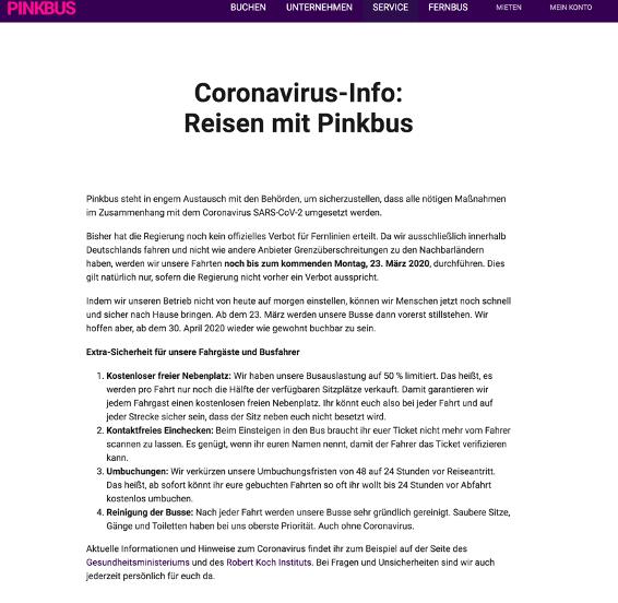 Pinkbus Corona