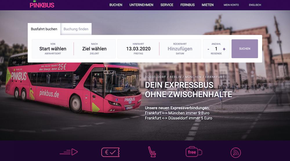 Pinkbus Website
