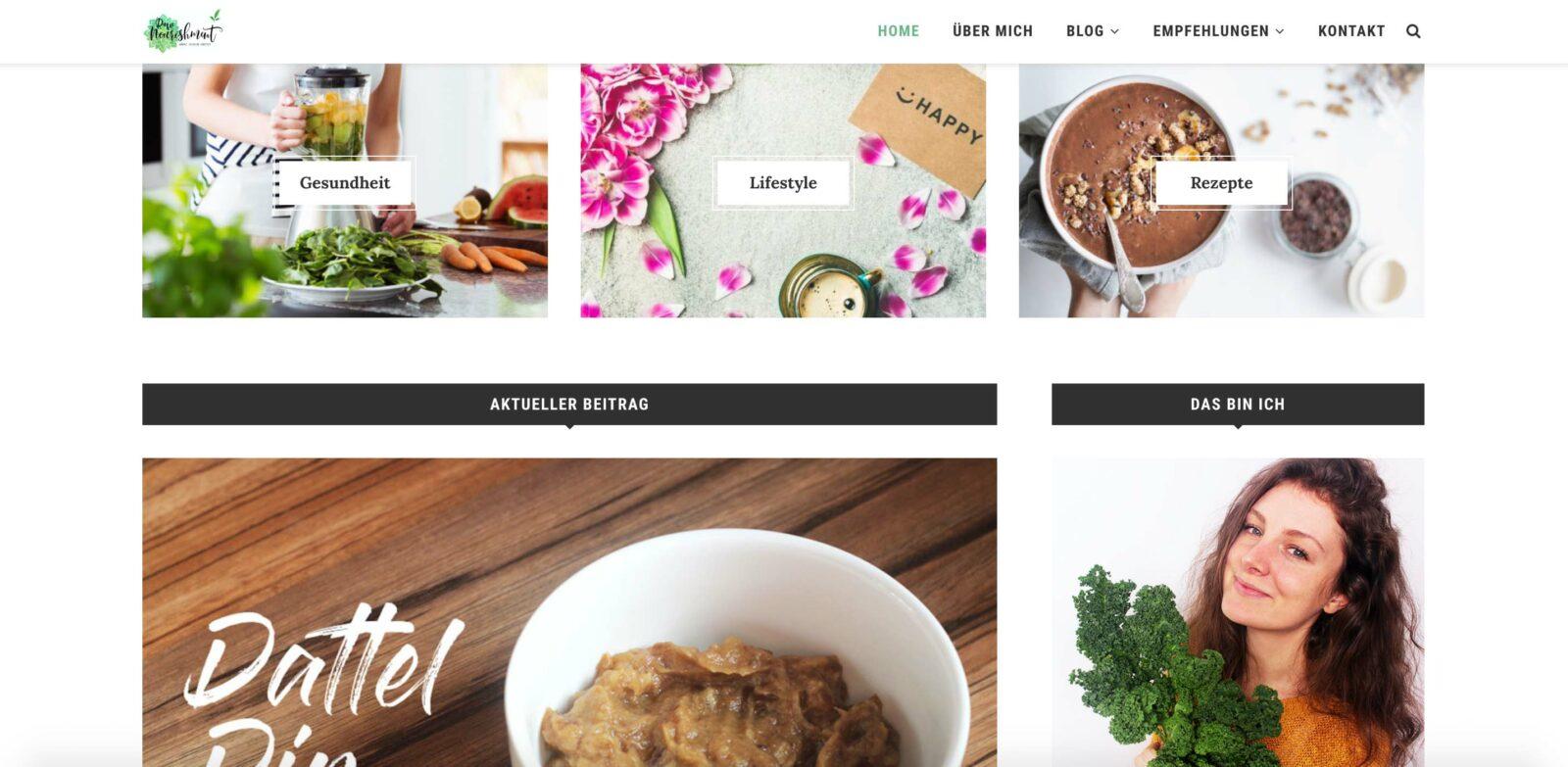 Raw Nourishment_Aufbau Website