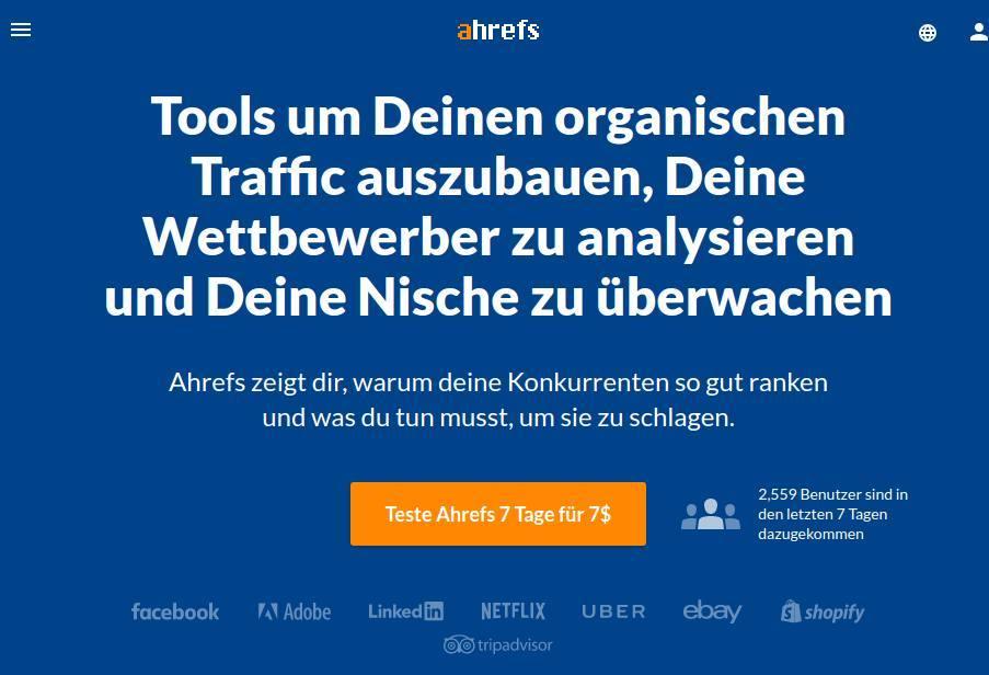 SEO-Optimierung für Webseiten kleiner Unternehmen - Eine Anleitung für Einsteiger_ahrefs-SEO-Optimierung