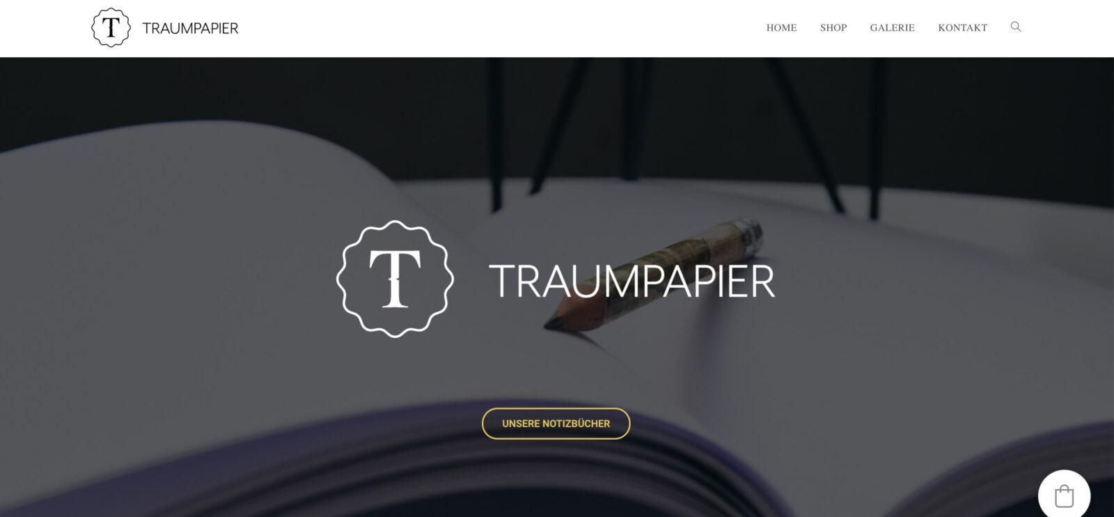 Traumpapier- Die Gedanken gehören auf Papier – die Website zu GoDaddy_Website