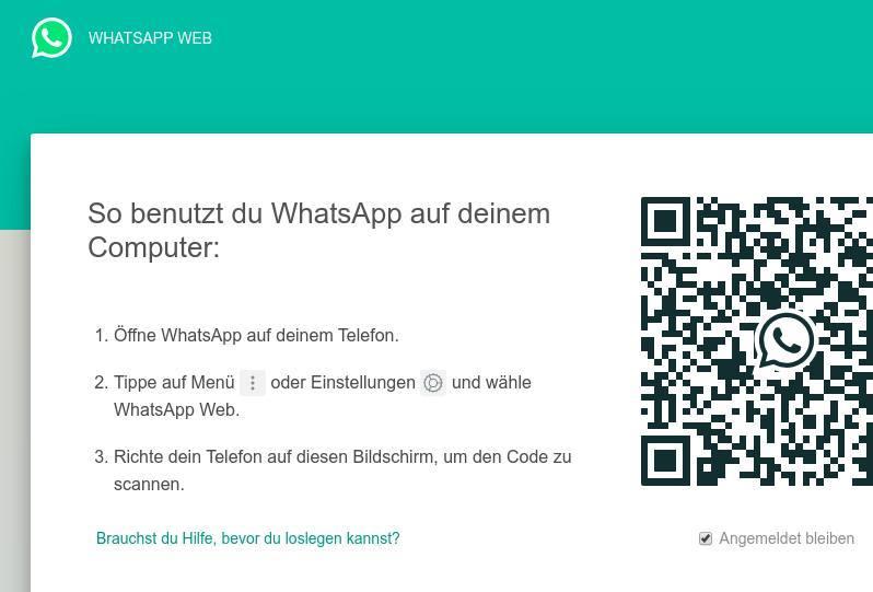 WhatsApp für PC_Nutze die Vorteile von WhatsApp Web_Startseite