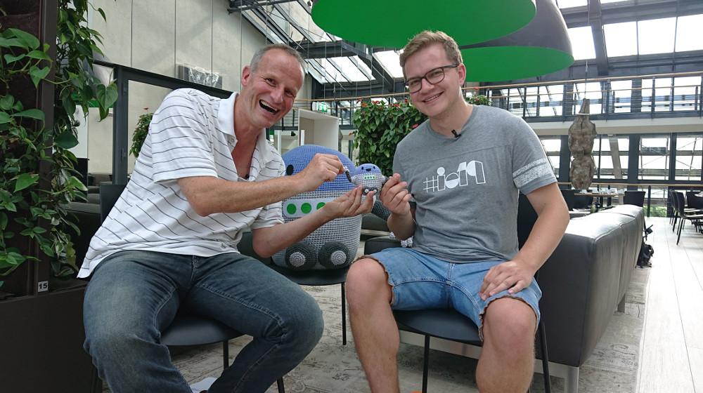 Abbildung 2 - Wolf-Dieter Fiege von GoDaddy im Interview mit Pascal Birchler