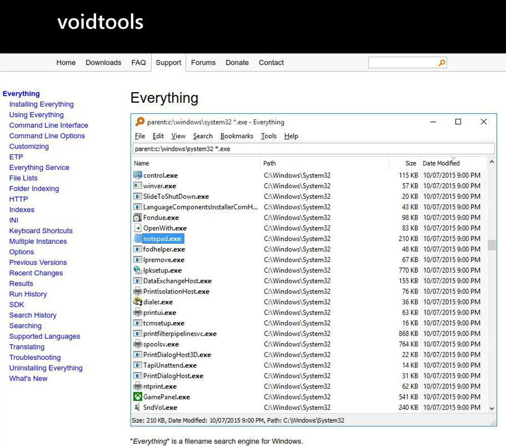 Abbildung 1 Alternative Dateimanager fuer Windows - Das Tool Everything