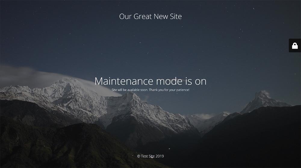 Abbildung 1: Solange du an deinem neuen Online-Shop bastelst, solltest du den Wartungsmodus aktivieren und Besuchern der Webseite eine Infoseite anzeigen.