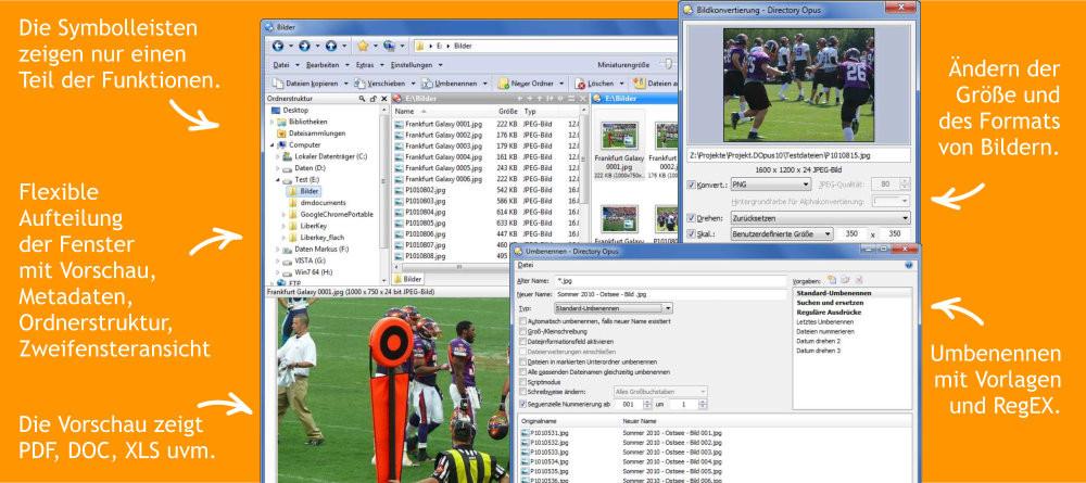 Abbildung - Alternativer Dateimanager für den Windows-Explorer - Directory-Opus