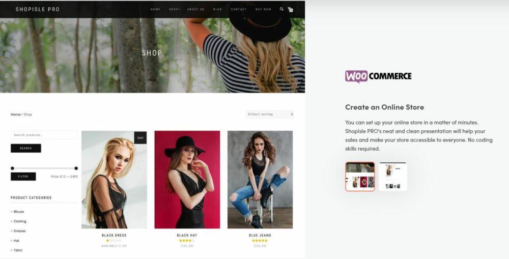 Abbildung 4: ShopIsle hat einen eleganten und minimalistischen Stil.
