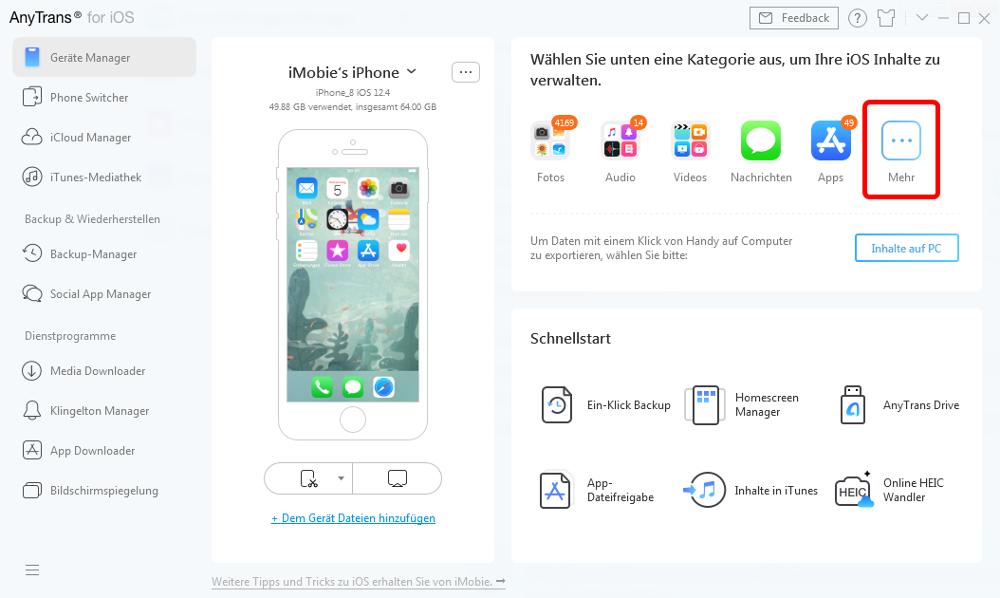 Abbildung - Alternativer Dateimanager für iPhone und iPad - AnyTrans