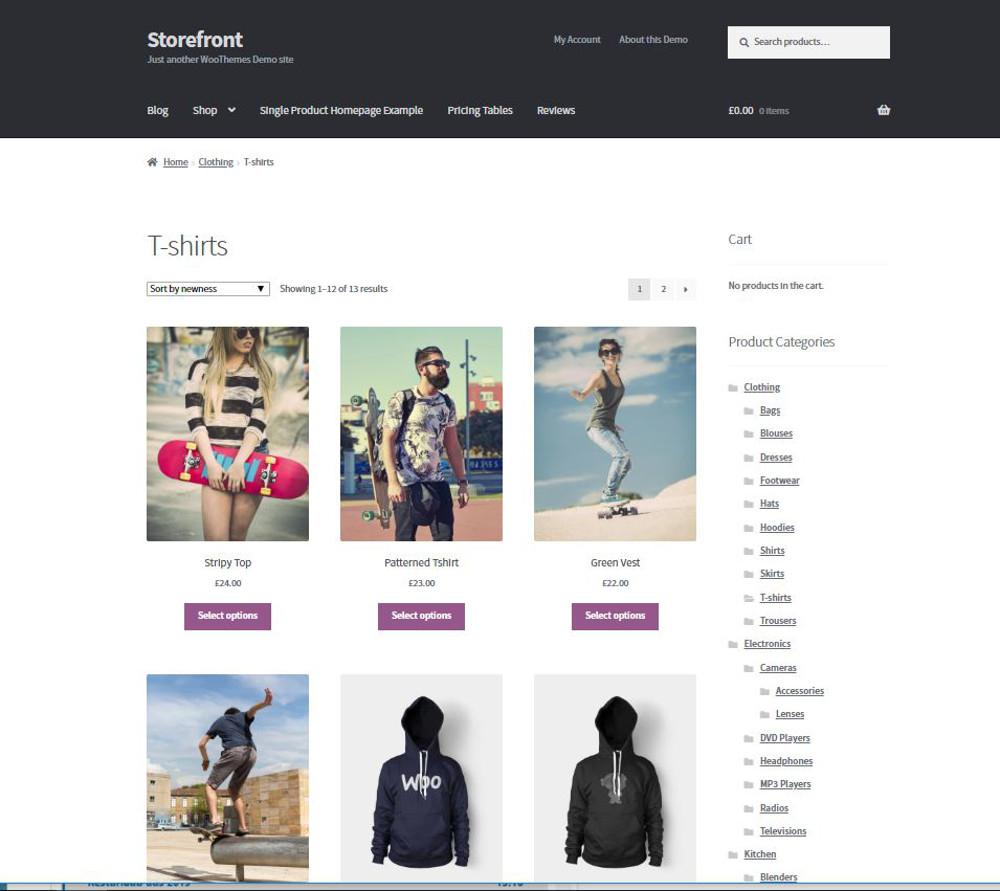 Abbildung 6: Storefront haben die WooCommerce-Entwickler gestaltet.