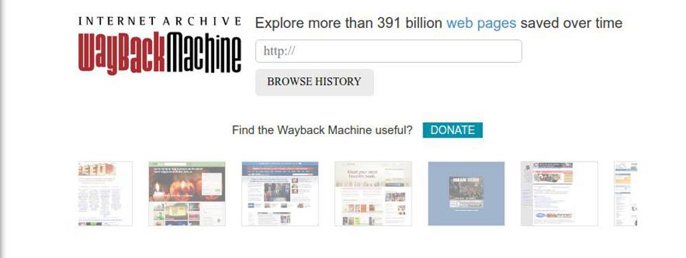 Abbildung 1: Im Internet Archive sind Schnappschüsse von mehr als 391 Milliarden Webseiten gespeichert – und es wächst weiter.