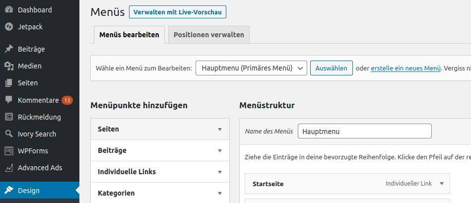 1-WordPress-Menu-erstellen