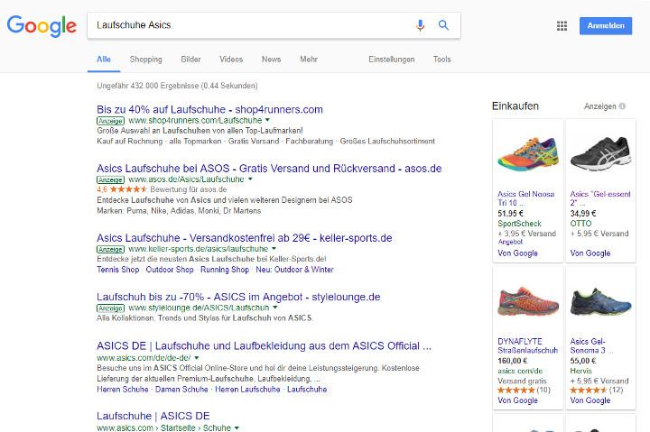 Abbildung 2 - Beispiel-Produktseite