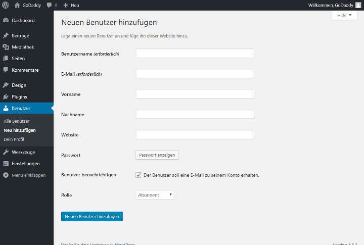Abbildung 4 - WordPress-Neuen-Benutzer-hinzufuegen