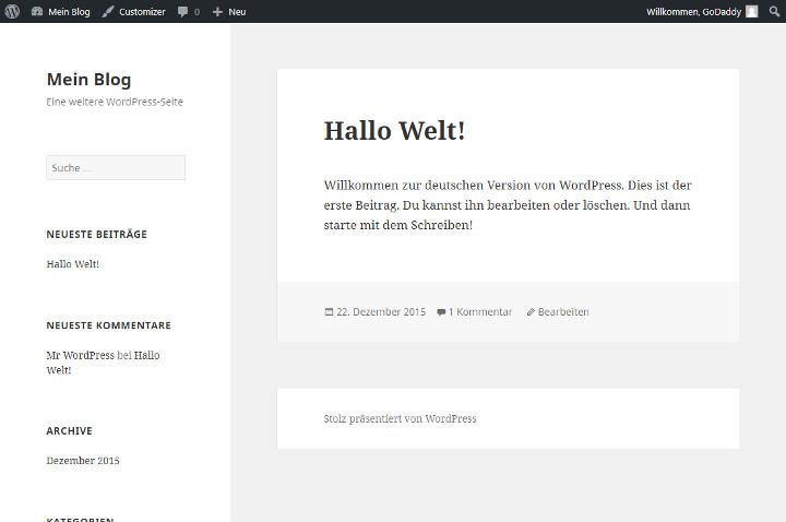 Abbildung 5 - Beispiel-WordPress-Theme_Twenty-Fifteen