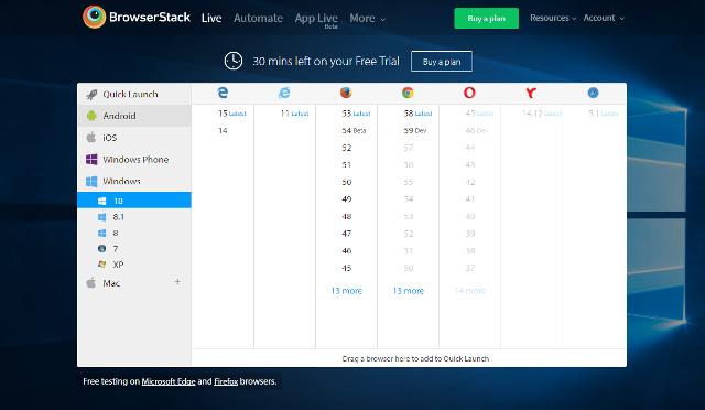 Abbildung - Auswahl der Betriebssysteme