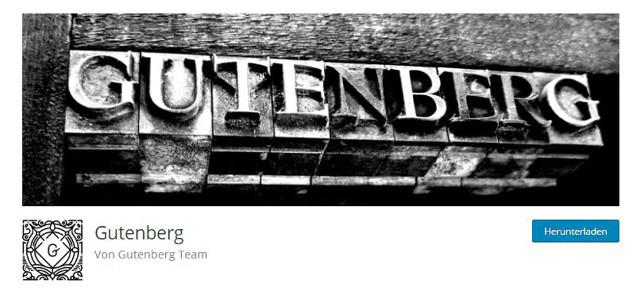 Abbildung - der Gutenberg-Editor als Plugin zum Download