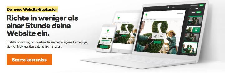 Abbildung - Homepage-Baukasten
