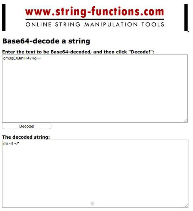 Abbildung - Online-String-Manipulation-Tool