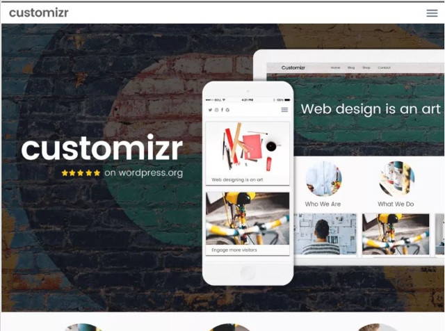 Abbildung - Resonsive WordPress-Theme Customizr