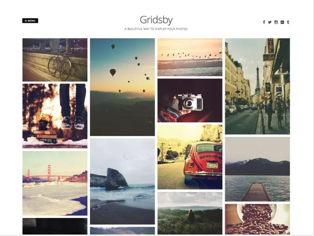 Abbildung - Resonsive WordPress-Theme Gridsby