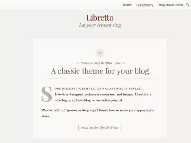Abbildung - Resonsive WordPress-Theme Libretto