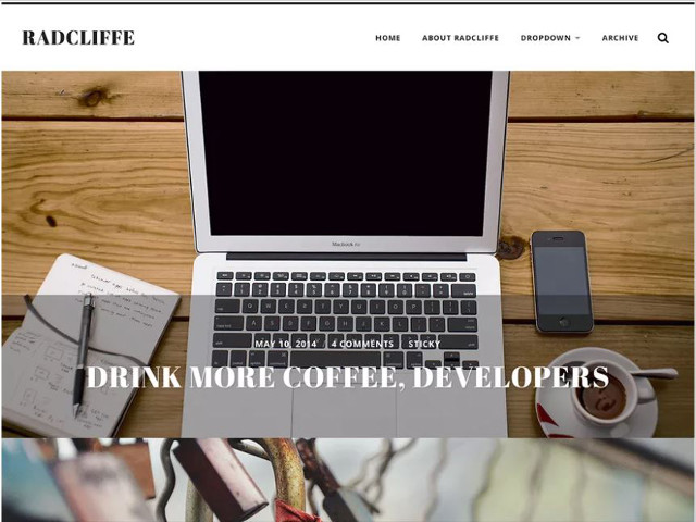 Abbildung - Resonsive WordPress-Theme Radcliffe