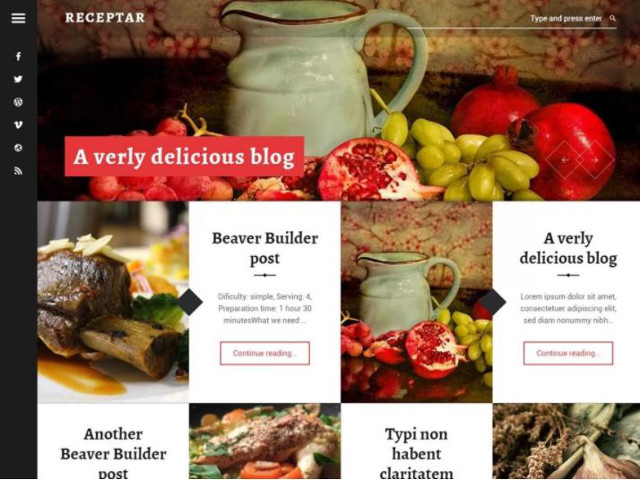 Abbildung - Resonsive WordPress-Theme Receptar