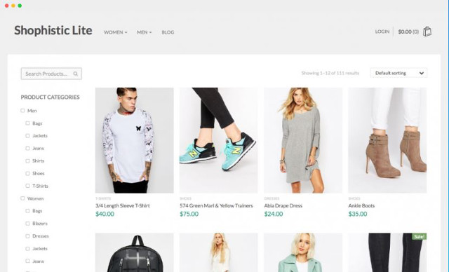 Abbildung - Resonsive WordPress-Theme Shopphistic Lite