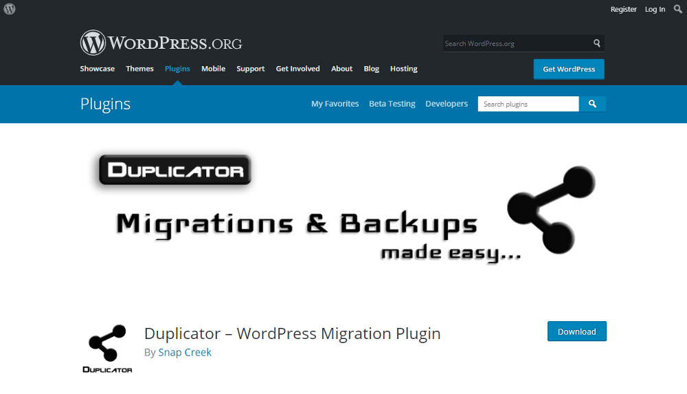 Abbildung - WordPress Plugin Duplicator
