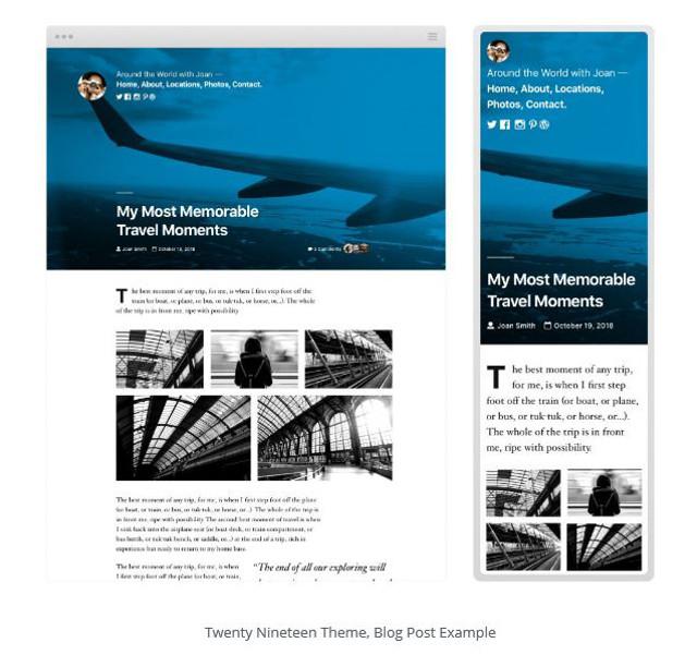 Abbildung - Das neue WordPress Theme Twenty Nineteen für den Gutenberg Editor