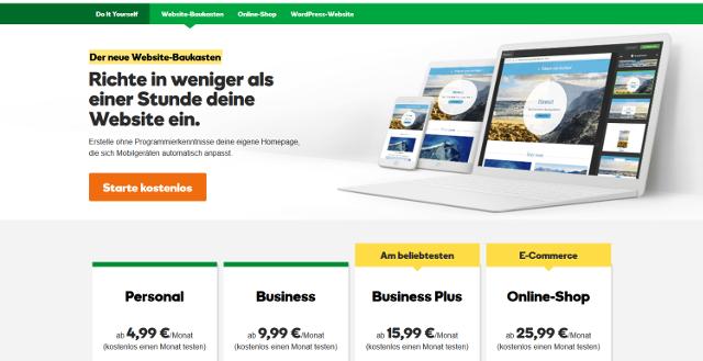 Abbildung_-_Produktübersicht - Website-Baukasten GoDaddy