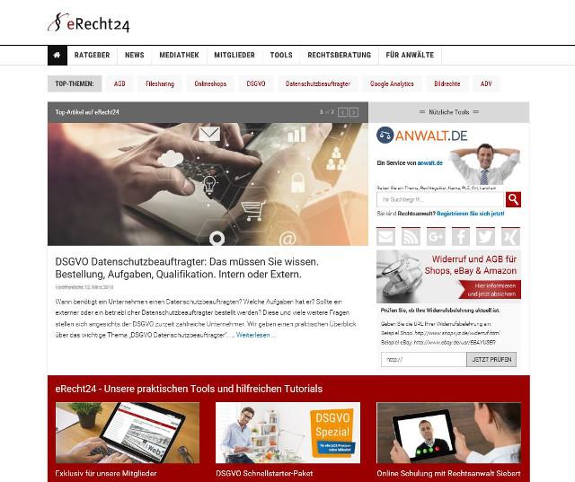 Abbildung_-_Webseite eRecht24