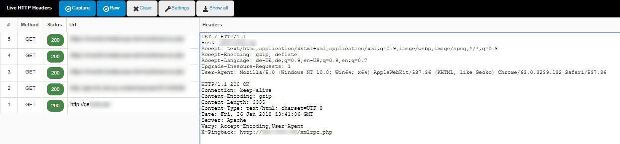 Abbildung_Check mit Live HTTP Headers