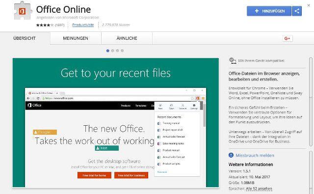 Abbildung-Browsererweiterung-Microsoft-Office-gratis-fuer-Google-Chrome