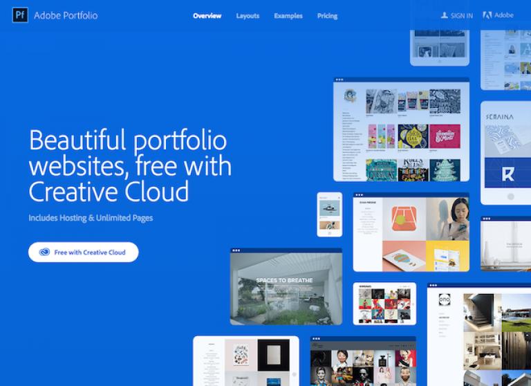 Die besten Online Portfolio Websites_Adobe Portfolio