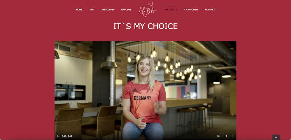 Elisabeth Seitz startet nicht nur bei Olympia durch – auch mit ihre Website_Website
