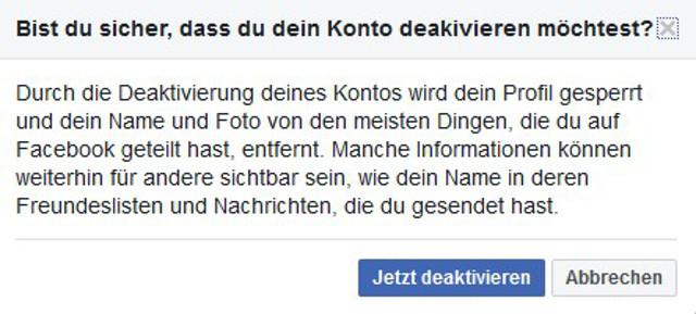 Facebook-Account löschen Abbildung 3