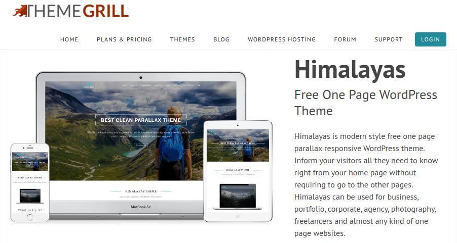 One-Page-WordPress-Theme-Himalaya