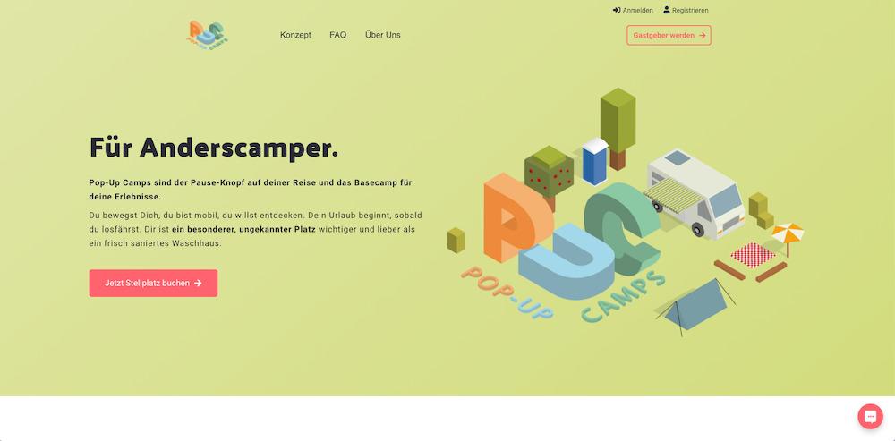 Pop-Up Camps Website