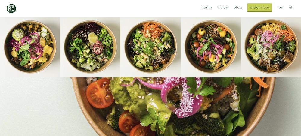Rå Bowls_Superfood verdient auch eine super Website_Homepage