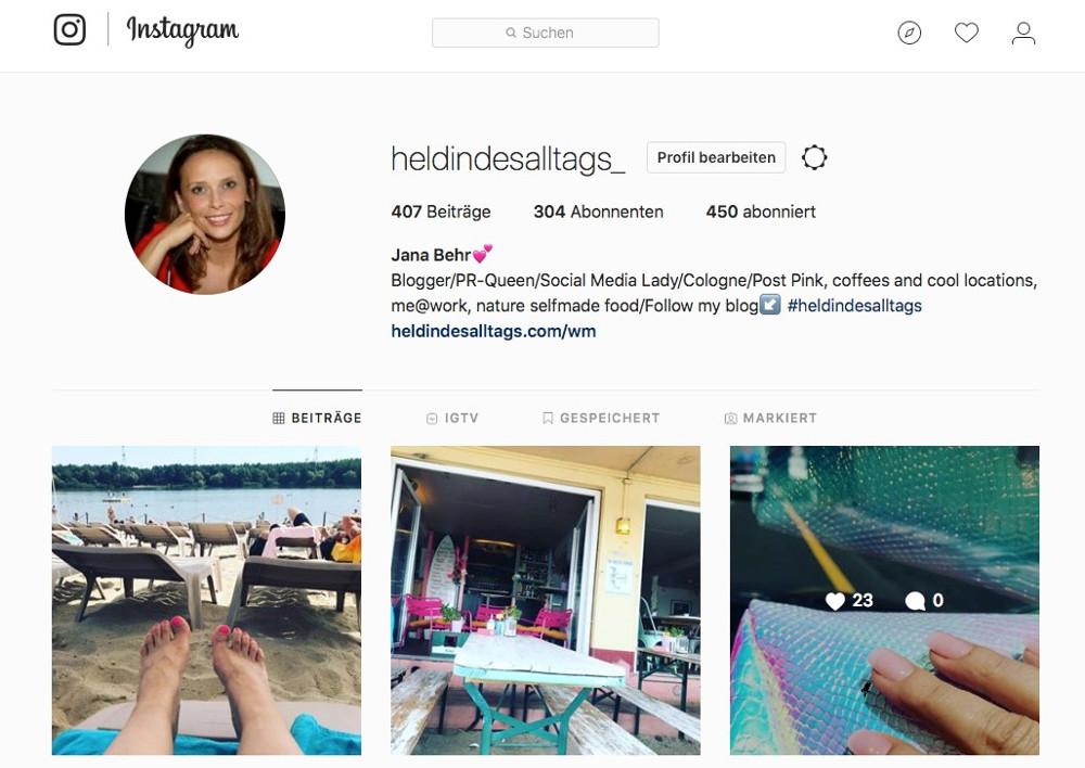 Instagram Account löschen Abbildung-1 Instagram-Profil bearbeiten